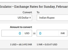 1 usd to inr